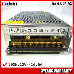 wholesale 200W 16.6A 12 24V Power supply for led strip light AC90-265V input voltage,monitoring equipment supply