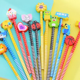 New Hot Selling Handmade Wooden Pencil Cartoon Vehicles Pencils Creative Trend Stationery Children Student Pencil
