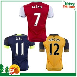 Wholesale Custom red yellow ALEXIS GIROUD OZIL WALCOTT XHAKA jersey sports football shirts Arsenal