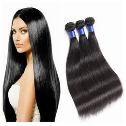 Human Hair Weaves Virgin Hair Nature Color Straight Human Hair Extensions all color can be done No Tangle No Shedding