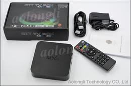 Amlogic android en Ligne-Quad Core MXQ Smart TV Box Android 4.4 Amlogic S805 k15.2 Mise à jour complète du lecteur multimédia MXQ TV Box 1080P Décodeurs HDMI WiFi