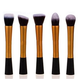 Mybasy High-end fashion 5pcs Concealer Professional Brushes Dense Powder Blush Slim Waist Makeup Brush Set cosmetic tool convenient to carry