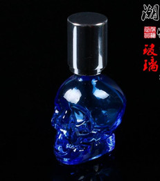 Wholesale Crystal Skull portable alcohol lamp glass hookah smoking pipe Glass gongs oil rigs glass bongs glass hookah smoking pipe vap vaporize