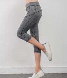 Hot Fashion Sports Yoga Mid-Calf Leggings For Women 2016 New Summer Gym Fitness Running Legging Pants Casual 3 4 Length Jeggings