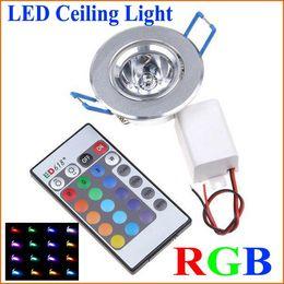 10X 85-265V RGB Ceiling downlight Ceiling lamp wall Lights Recessed Lamp Spotlight + Remote Control RGB LED bulbs KTV DJ Party LED Spotlight