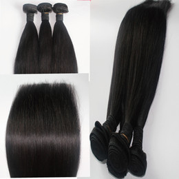 Mongolian Cuticle Hair Weave Straight 3pcs lot Natural Color Unprocessed Burmese Vietnamese Cambodian Human Hair Weft Extensions