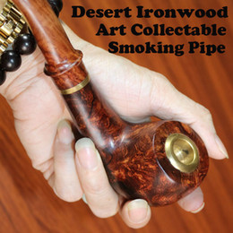 Wholesale 2016 Promotion Finest Rosewood Woodcraft Cigar Holder Tobacco Smoke Pipe with Loop Filter Handmade for Wee Christmas Gift for Men Ornaments