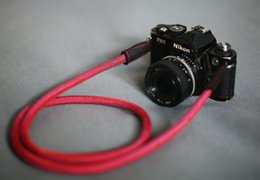 Wholesale COOL RED Climbing rope mm handmade Camera neck strap