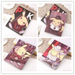 Promotion mélanger le cas de la mode Cases Mode Poke Mon Pikachu Ipad Case Poke Poket Monest manches Flat Dormant Cartoon Shell Cover pour iPad 2 3 4 1 2 air mini1 2 3 mini4
