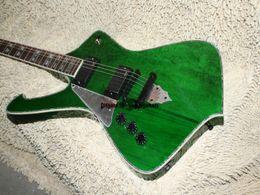 Left Hand Guitar Iceman Custom Electric Guitar IN green guitars ree shipping
