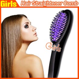 Wholesale High quality Magic Comb Hair Straightener Practical Brush Comb Hair Straightening PK Antomatic LCD Hair Straightener Comb Dhl free