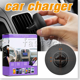 Wholesale New Auto Car Holder Mini Air Vent Outlet Mount Magnet Magnetic Phone Mobile Holder Universal For iphone S plus SE Samsung S7 S6 Car Holder
