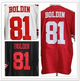 Wholesale 81 Anquan Boldin elite jerseys San Francisco red white black size small S M L XL XXL XXXL XL