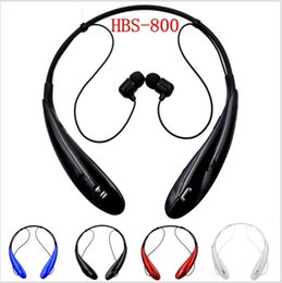 Wholesale HBS Bluetooth Headset Wireless Earphone Bluetooth Headphone Ear Buds Head Phone Set for iPhone S S Samsung Xiaomi Earbud