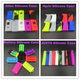 Wholesale Colorful Alien Silicone Case for w Box Mod Stick Pico W Rubber Sleeve Protective Cover Skin E Cigarette Dual Battery Silicon bags
