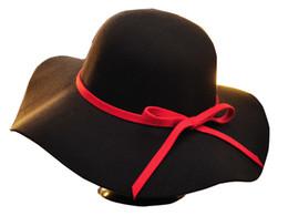 Chapeau souple rond en Ligne-Chapeau femmes pour / printemps / Vintage Style Automne Hiver Laine Inspiré Round Couronne Floppy Winter Hat