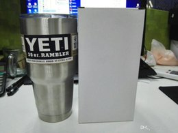 Wholesale 2016 New oz Bilayer Stainless Steel Insulation Cup OZ YETI Cups Cars Beer Mug Large Capacity Mug Tumblerful