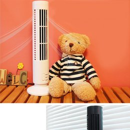 Wholesale Bladeless Mini Cool Air Condition USB Charge No Blade Fun ABS Tower Fun Creative Design Air Condition Home Desktop Cool Gadget Fun for PC