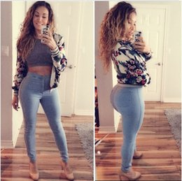 2016 High Waist Jeans Woman Knee Skinny Pencil Pants Slim Denim Boyfriend Jeans For Women Elastic vintage Women Jeans 303