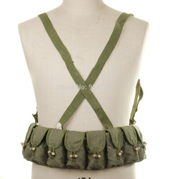 Wholesale SURPLUS CHINESE MILITARY SKS TYPE SEMI AMMO CHEST RIG BANDOLIER POUCH