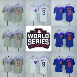 Wholesale Javier Baez World Series Cubs Jersey David Ross Men s Stitched Embroidery Logos Chicago Cubs Hockey Jerseys White Blue Grey