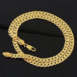 Men's jewellery 14k yellow gold filled necklace Noble chain 60cm