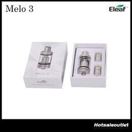 Wholesale Authentic Eleaf Melo Atomizer ml and Mini Melo Tank ml Fit iStick Pico Mod Melo3 Melo3 Mini Atomizer