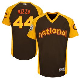 Anthony Rizzo Chicago Cubs 2016 All-Star Game Cool Base Batting Practice Player Jersey - Brown Baseball Jerseys