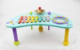 Wholesale Delightful percussion table kids music toys early learning music baby gift