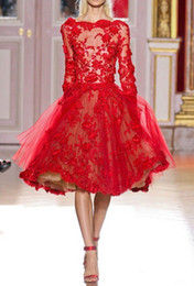 short Wedding dresses 2016 Red lace dresses wash Ball Gown Wedding Dress Lace Long Sleeve Lace Sexy Bridal Gowns