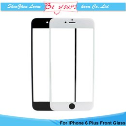 Wholesale 5 inch Front Outer Lens Glass Screen For iPhone Plus S Plus Broken Cracked Screen Glass Replacement White Black