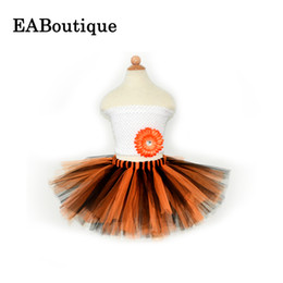 Wholesale 2016 Cheaper price New summer Pumpkin halloween costume tutu skirts high quality handmade beautiful soft yarn best christmas gift
