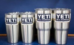 Wholesale 2017 YETI Stainless Tumbler oz Clear Lid Rambler Cups for Yeti Coolers Cup Sports Mugs Large Capacity Stainless Steel MugFS0827