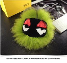 Wholesale Hang Act Fur ball cm Monster Pom Key Chain Women Key Chains Bag Charm Pendant Fur Ball Cars Keychain Gifts