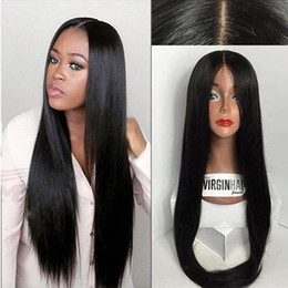 8A Silk Top Full Lace Wigs   Human Hair Lace Front Wig With Baby Hair Unprocessed Brazilian 4*4 Silk Base Lace Wigs Black Women