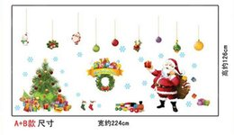 Wholesale Christmas Wall Stickers Santa and Tree Affixed Sticker Shop Window Shopping Windows Arranged Decorative