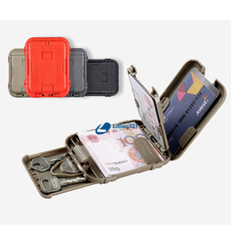 Wholesale Details about EDC Smart RFID Blocking Wallet Tactical Multifunction Anti degaussing Wallet Box