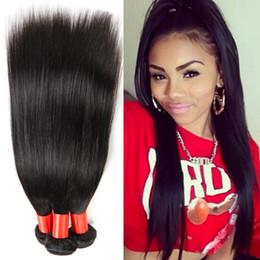 100 Percent brazilian human hair weave bundle raw virgin kinky straight hair natural black brazilian virgin hair straight