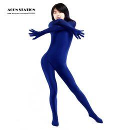 Wholesale Cheapest Bodysuit Costumes - Wholesale-2016 New Cheap Halloween Catsuitt Marine Blue Lycra Spandex Bodysuit