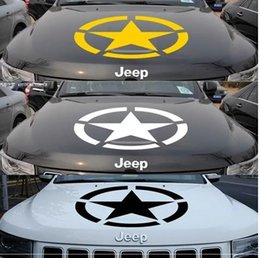 Wholesale Brothers car stickers Automobile engine cover engine cover stick the Jeep Jeep off road modified spent stickers