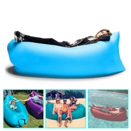 Wholesale Fast Inflatable Lamzac hangout Air Sleep Hiking Camping Bag Bags Bed KAISR Beach Sofa Lounge Only Ten Seconds inflate DHL