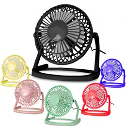 "USB Electric 4"" Metal Head Fan 360 Rotate Metel Mute Radiator Fan Mini Portable Cooler Cooling Desktop Power PC Laptop Desk Fan 120pcs free"