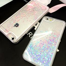 Cubierta del caso del patrón al por mayor de las estrellas de Bling-Bling dinámico líquido del corazón del brillo para el iPhone 4 4s 5 5S SE 5C 6 6S desde casos del corazón iphone 4s fabricantes