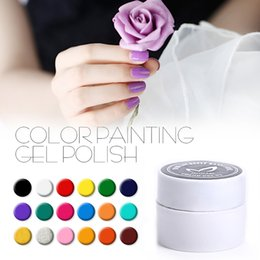 Wholesale Cheap Nail Paints - Cheap Professional gel nail polish pure color painting nail glue for false nail gel lacquer UV gel