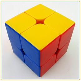 2017 dayan juguete Al por mayor-Dayan 5.0 Zhanchi 50mm 2 capas blancas velocidad cubo mágico juguetes Kubik aprendizaje kub educación cubo mágico juego personalizado dayan juguete promoción