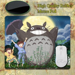 Wholesale-New Anti-Slip PC My Neighbour Totoro Anime Umbrellas Silicon Mouse Pad Mat Mice Pad for Optical Free Shipping
