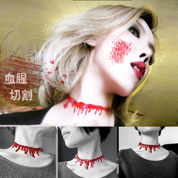 Halloween Blood Drip Necklaces Festival Props Statement Necklaces Halloween Toy Gift Free Shipping