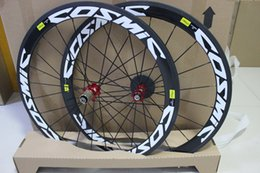 Wholesale mavic cosmic carbon wheelset clincher c mm rims white decal carbon bicycle wheel road bike wheelset cn aero Spokes Front Rear