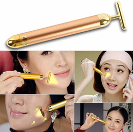 New Arrival Energy 24K Gold Beauty Bar Pulse Firming Massager Facial Roller Massage Lady Beauty Face Body Care Beauty Roller