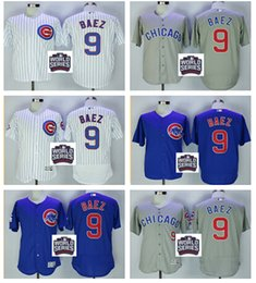 Wholesale 2016 World Series patch Chicago Cubs Javier Baez Jersey White Blue Alternate Gray Road Premier Stitched Javier Baez Cubs Baseball Jerseys